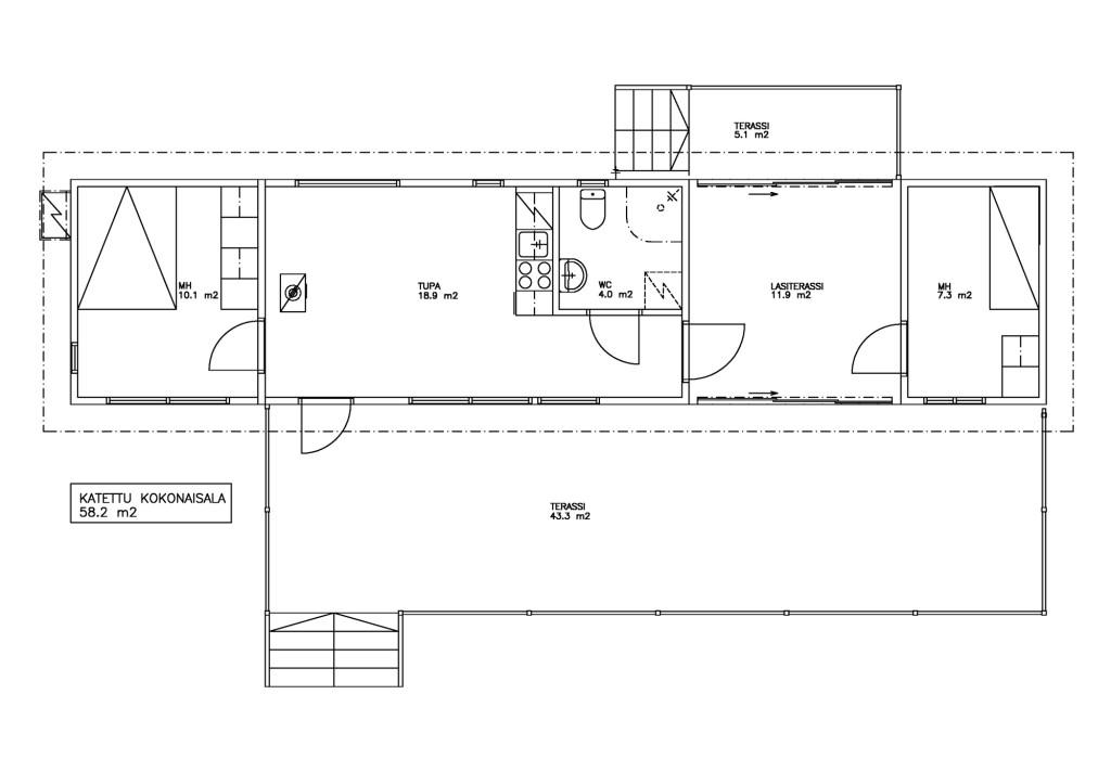 Salvoksen suosituin mökkimalli on IsoHaka, jonka kahta erillistä mökkiosaa yhdistää katettu ja lasitettu terassi. Mökin toisessa osassa on tilava tupakeittiö, makuuhuone sekä kylpyhuone. Lasiterassin toisella puolella on pieni makuuhuone, joka soveltuu vaikkapa vierashuoneeksi. Huonetilaa on yhteensä 36,3 neliötä ja katettua tilaaa 58,2 neliötä. Salvoksen toimittamien valmismökkien hinnat ovat keskimäärin 40 000-150 000 euroa varustelutasosta ja koosta riippuen. (Vasemmassa kuvassa Salvoksen saunamökki.)