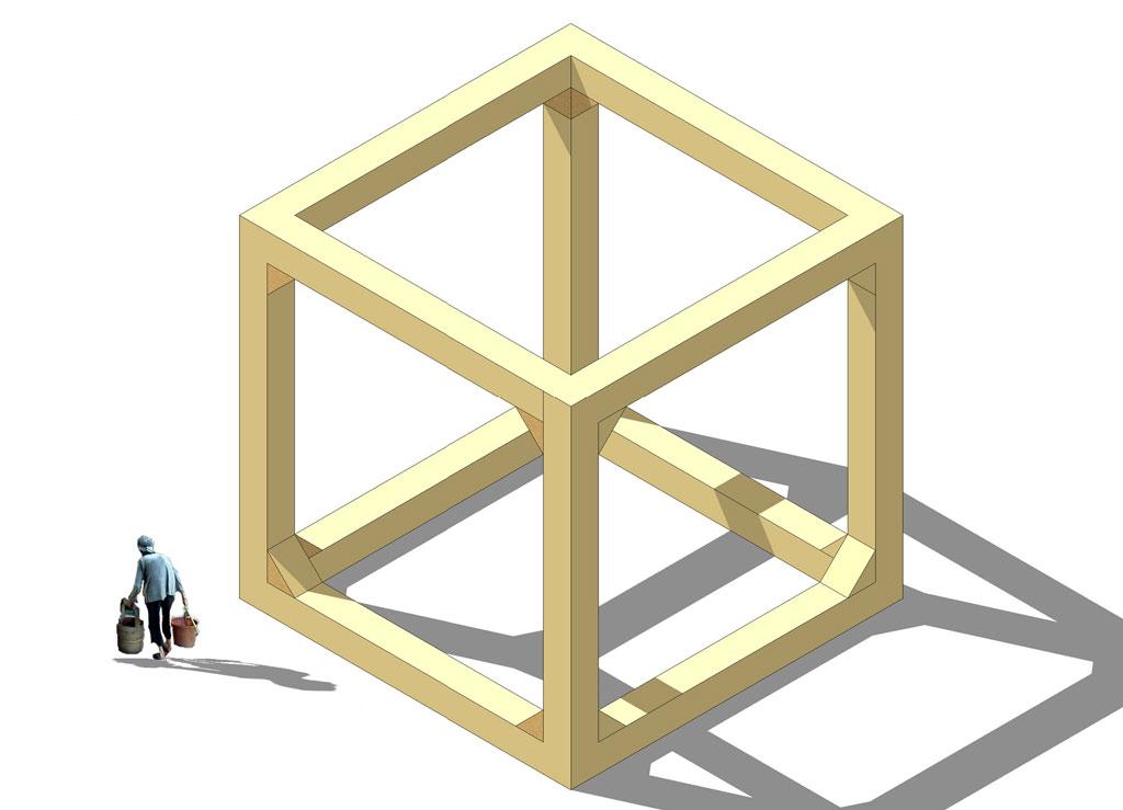 Paracityn moduulirakenne valmistetaan suomalaisista cross-laminoiduista mäntypalkeista, joiden valmistus on juuri aloitettu Kuhmossa CrossLam-tehtaalla.