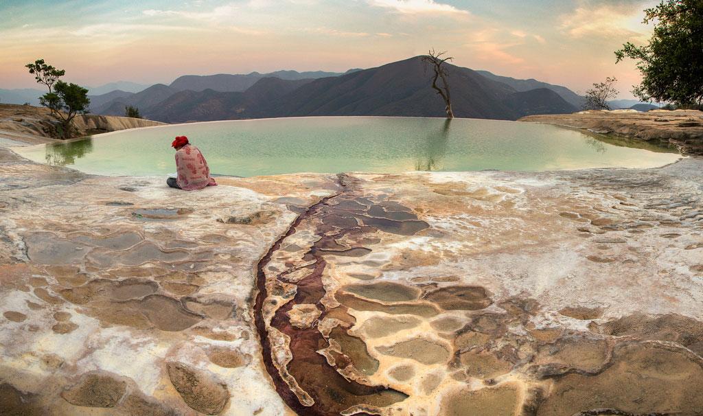 Hierve el Aguan mineraalilähteet Oaxaca