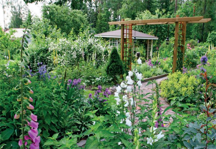 suojaisa puutarha