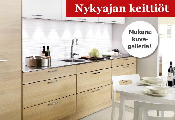 Uudet keittiömallistot  uusi keittiö on selkeälinjainen