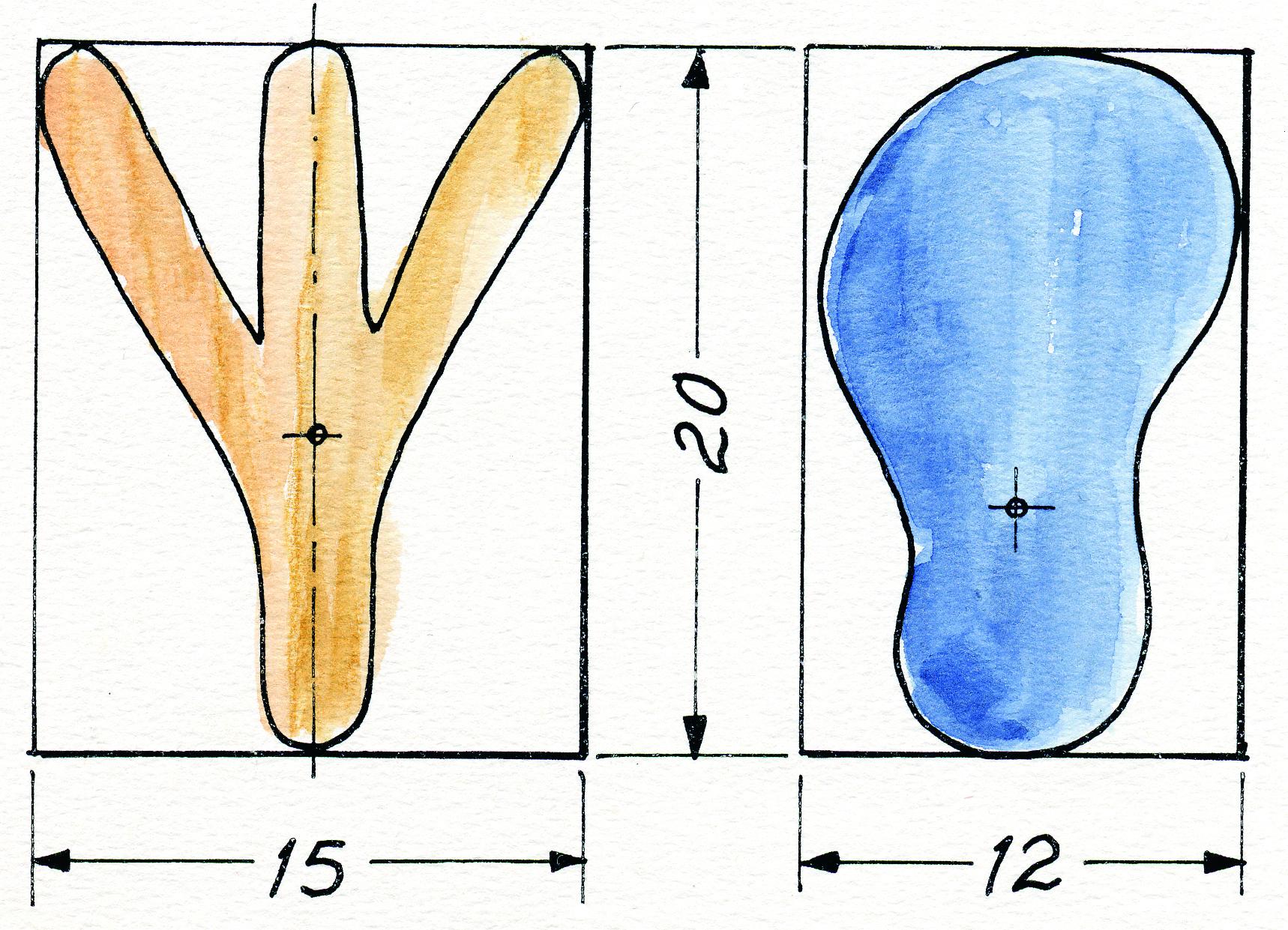 Jalkojen rakennepiirros
