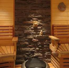 Verhoilukiven asennus saunaan