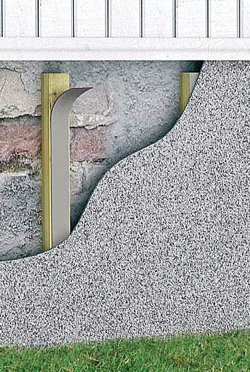 Steni-sokkelilevyjen pinta on murskattua luonnonkiveä