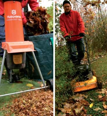 Silppuaminen ruohonleikkurilla tai silppurilla nopeuttaa lehtien hajoamista. Älä kuitenkaan jätä nurmikolle yhtenäistä ja tasaista lehtipeitettä.
