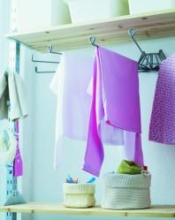 Käteviä kuivaustelineitä voi kiinnittää kotiin useitakin