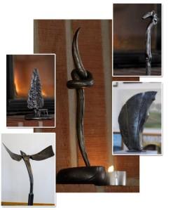 Jyrki suunnittelee ja valmistaa sekä koriste- että käyttöesineitä, joissa näkyy hänen omaleimainen tyylinsä.