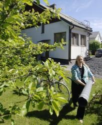 Sari Miikkulaisen äidinäidin isä on rakentanut Porin Vähäraumalla sijaitsevan rintamamiestalon vuonna 1949.