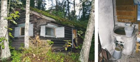 Ostohetkellä saunarakennuksen kunto oli lohduton. Katolla kasvoi sammalta ja sisätiloissa oli vuosikymmenten sotkut.