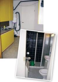 Kylpyhuone ennen remonttia