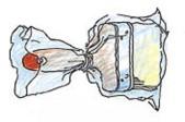 Sulje sivellin muovipussiin, kun keskeytät maalaamisen välillä.