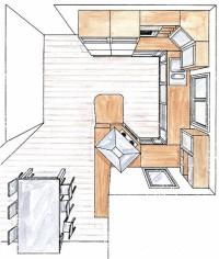 Topi-keittiöiden keittiösuunnitelma