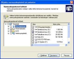 Windows XP:n varmuuskopiointiohjelma