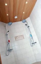 Pesuhuoneelle antavat ilmettä Ruotsista hankitut Moran suihkusuuttimet