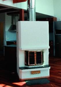 Valmispiipun avulla tulisijan voi sijoittaa myös vanhaan asuntoon.