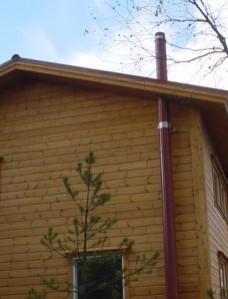 Asennus on mahdollista myös melkein kokonaan talon ulkopuolelle.