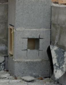 Elementtipiipun asennuksen yhteydessä tehdään tarvittavat aukot.