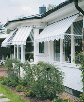 Siesta-ikkunamarkiisi estää auringonsäteiden pääsyn ikkunan läpi sisätiloihin. UK-Sunsystems