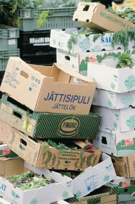 Biojäte kuuluu kompostiin.