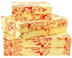 IVANAhelsingin Paper Butterfly -kuosillä päällystetyt lahja- ja säilytyslaatikot