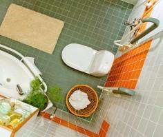 Hyvin suunniteltu kylpyhuone