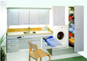 Variante-keittiöiden kodinhoitohuone