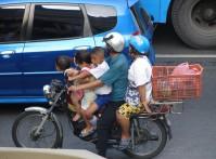 Perhematkailua Bangkokissa