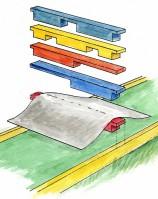 Lankunpätkistä voit nikkaroida sarjan erilaisia esteitä