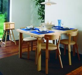 Pöytä Artek, tuolit ja syöttötuoli Vepsäläinen