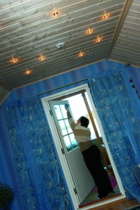 Itämaista tunnelmaa yläkerran aulassa