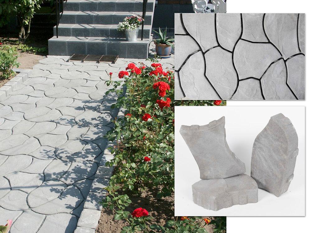 Persoonallinen Forum on seitsemästä erimuotoisesta kivestä koostuva grafiitinvärinen pihakivi.