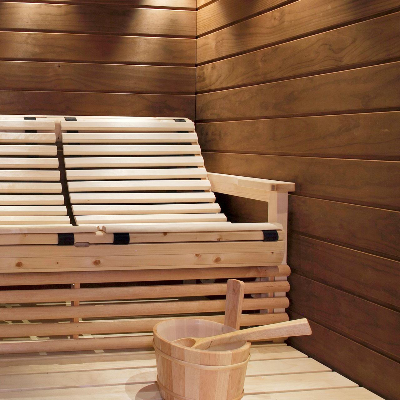 Riippulauteet sopivat erikokoisiin saunoihin.