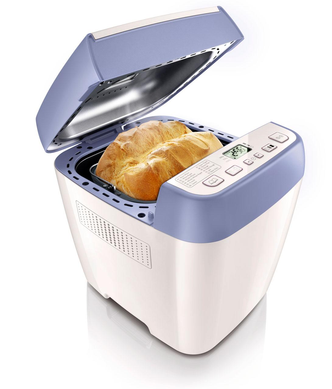 Tällä leipäkoneella syntyvät niin leivät, kakut kuin hillotkin. Viva Collection -leipäkone on varustettu 12 erilaisella ohjelmalla ja erikoisaineksia sisältävien leipien valmistus onnistuu myös kätevästi. 13 tunnin ajastin. Hinta noin 120 euroa. Lisätietoja Philips, www.philps.fi