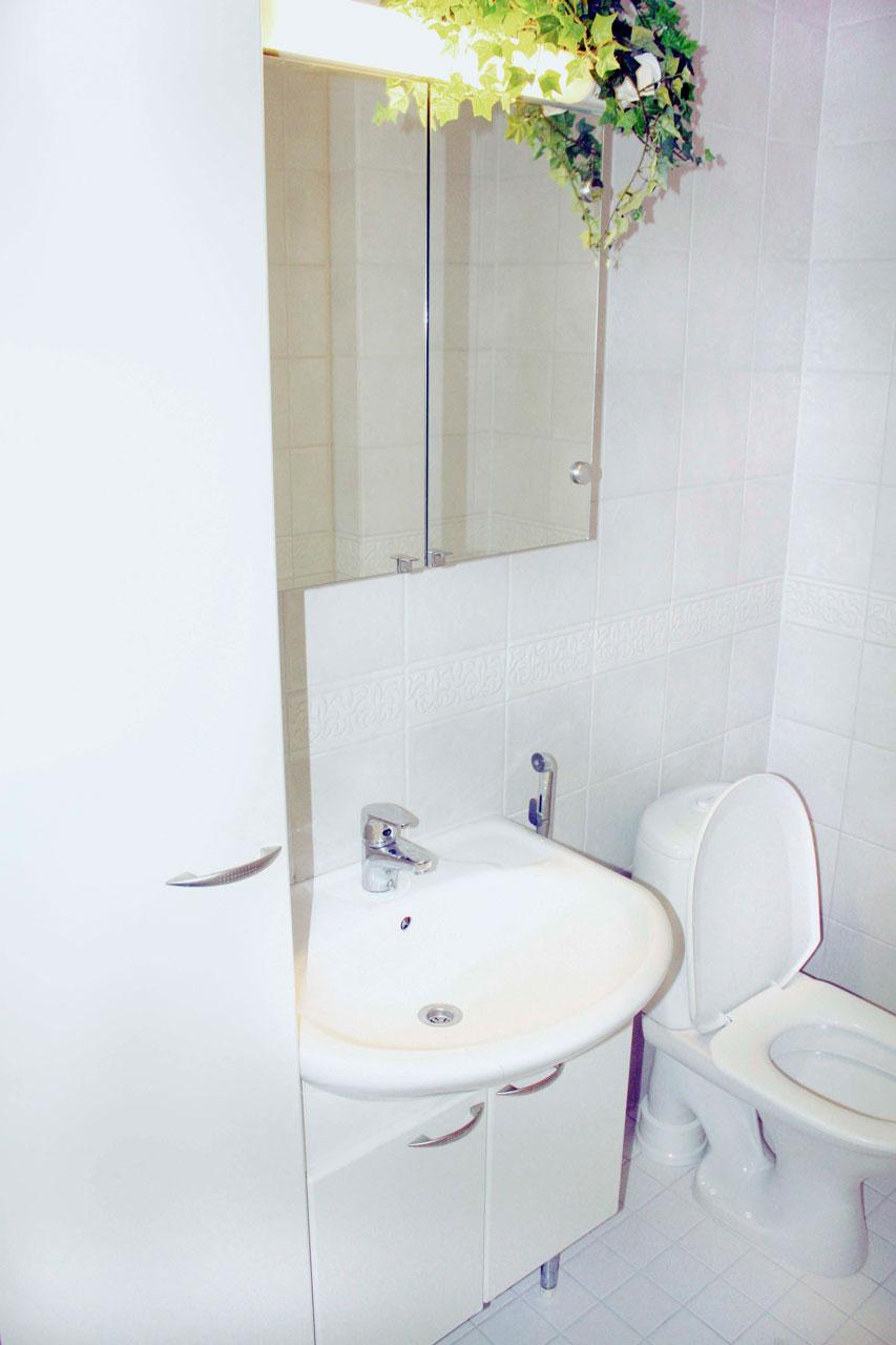 Tältä kylpyhuone näytti ennen.