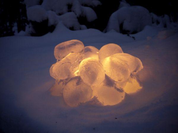 Lumipallolyhyt - jäälyhty - lumilyhdyn tilalle