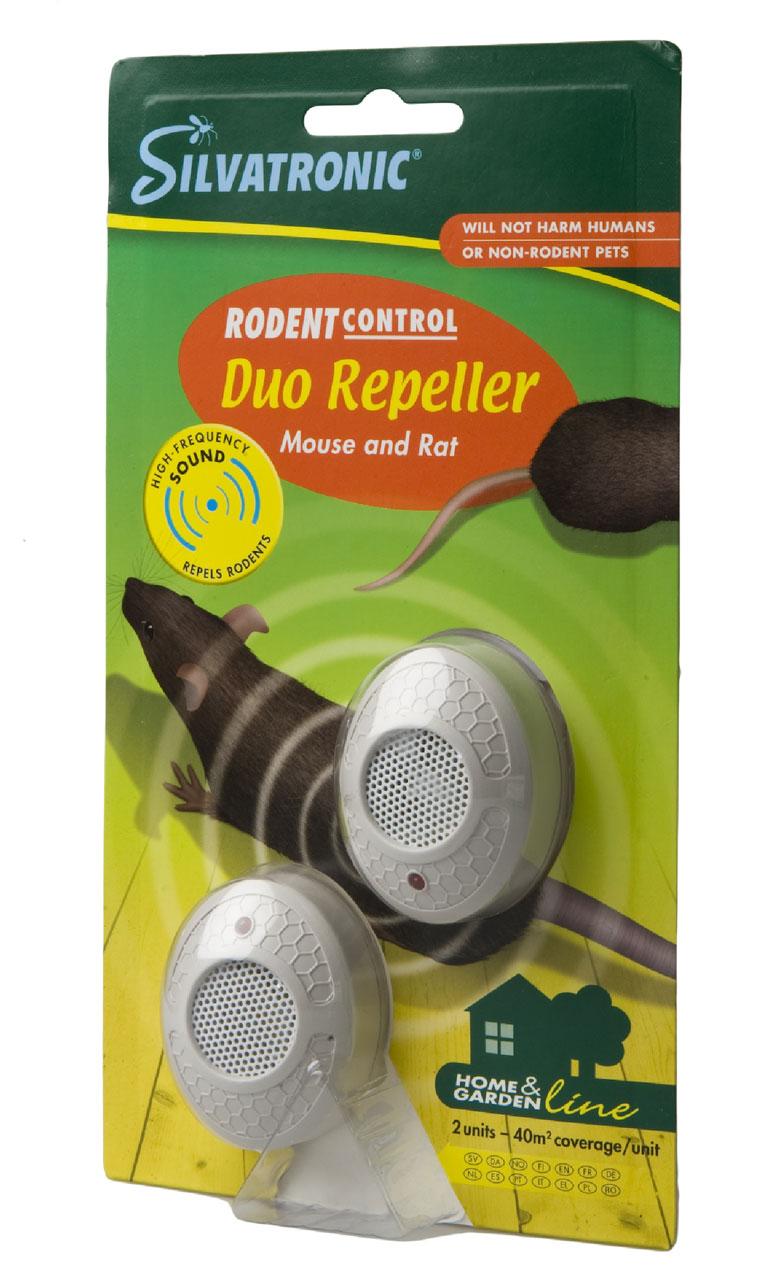Silvalure Duo Repeller hiiren- ja rotankarkotin karkottaa tehokkaasti hiiret- ja rotat sisätiloista.