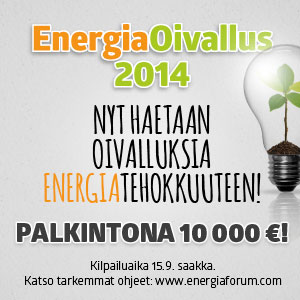 Energiaoivallus kisa energiansaasto