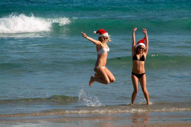 Joulu uimarannalla