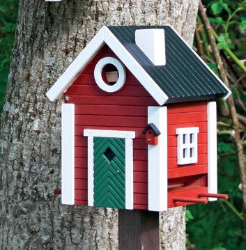 Lintujen talviruokinta linnunpönttö ja linnunpönttö ja ruokintalauta