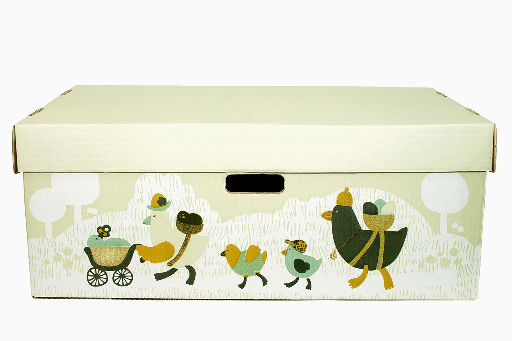 Äitiyspakkaus vuodelaatikko