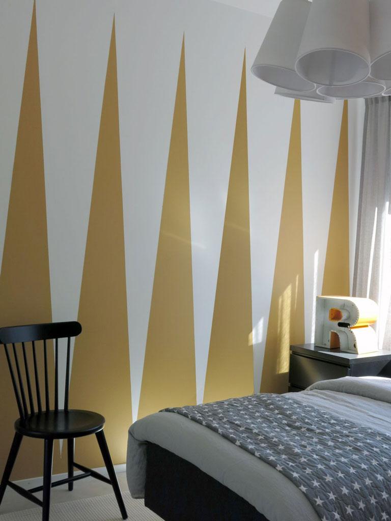 tehosteseinä - makuuhuone