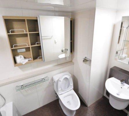 Kylpyhuoneen saumojen puhhdistus