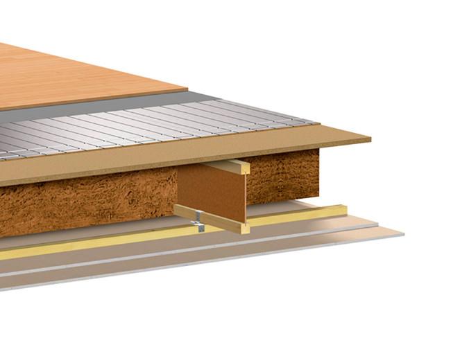 Silencio® 24/36 mm on kehitetty erityisesti aluslattiaksi betonilaatoille sekä korjausrakentamiseen askeläänieristyksen parantamiseen.