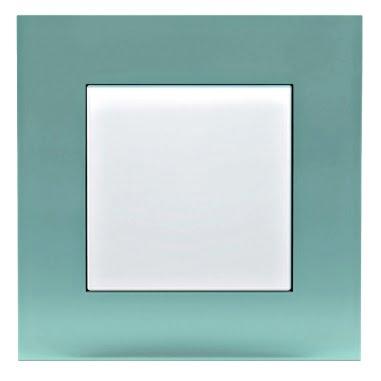 Ensto Intro Valkoinen kytkin lasikehyksellä 115x115 mm