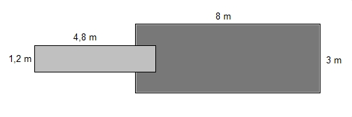 Savorak massiiviponttonilaituri 8 x 3 m