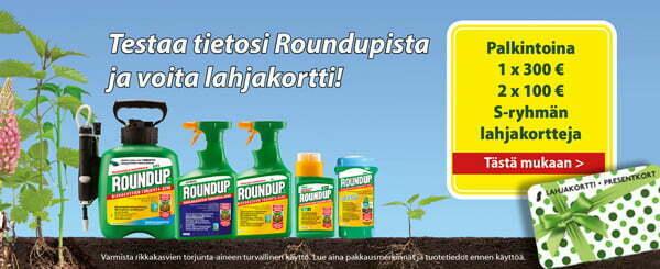 Testaa tietosi Roundupista ja voita lahjakortti!