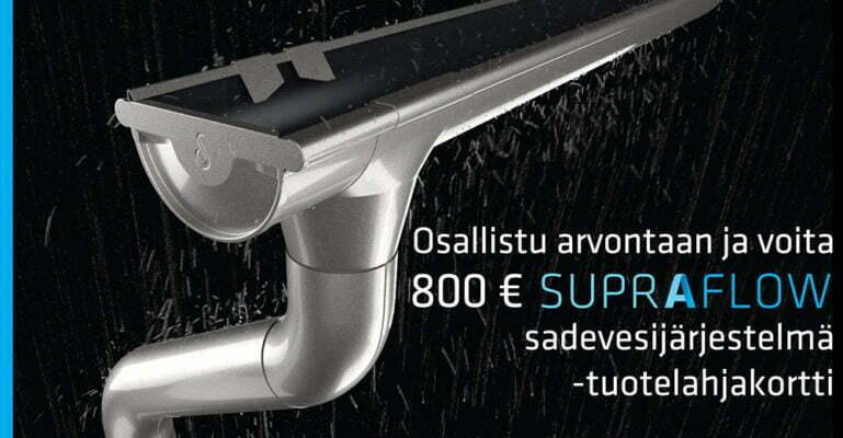 Toukokuun kuukausikilpailu – osallistu ja voita 800 euron Supraflow-sadevesijärjestelmä lahjakortti!