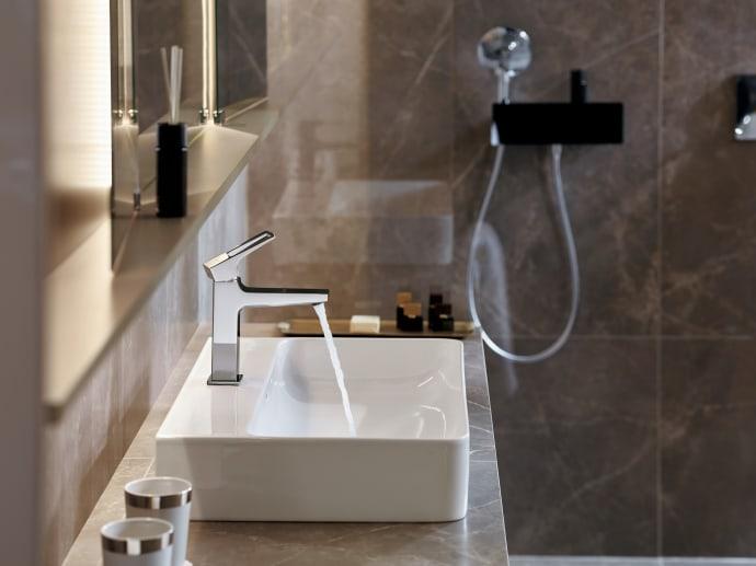 Hansgrohen uusi pesuallashana tuogeometristä kulmikkuutta elegantteihin kylpyhuoneisiin