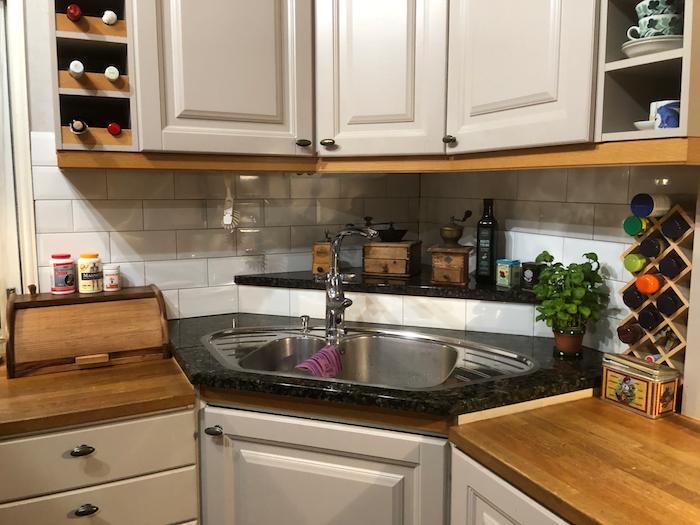 Pikaremontti keittiölle - keittiön välitila uusiksi