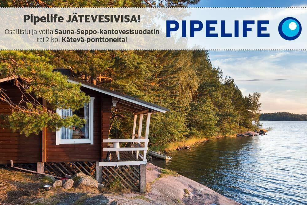 Toukokuun kuukausikilpailu – osallistu ja voita Sauna-Seppo-jätevesijärjestelmä tai 2 kpl Kätevä-ponttoneita!